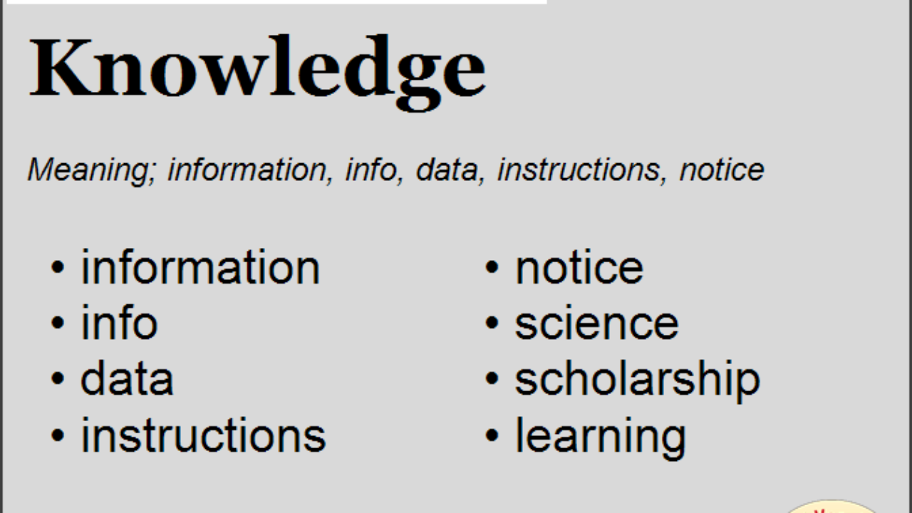 Synonym for Knowledge, what is synonym word Knowledge   English Vocabs